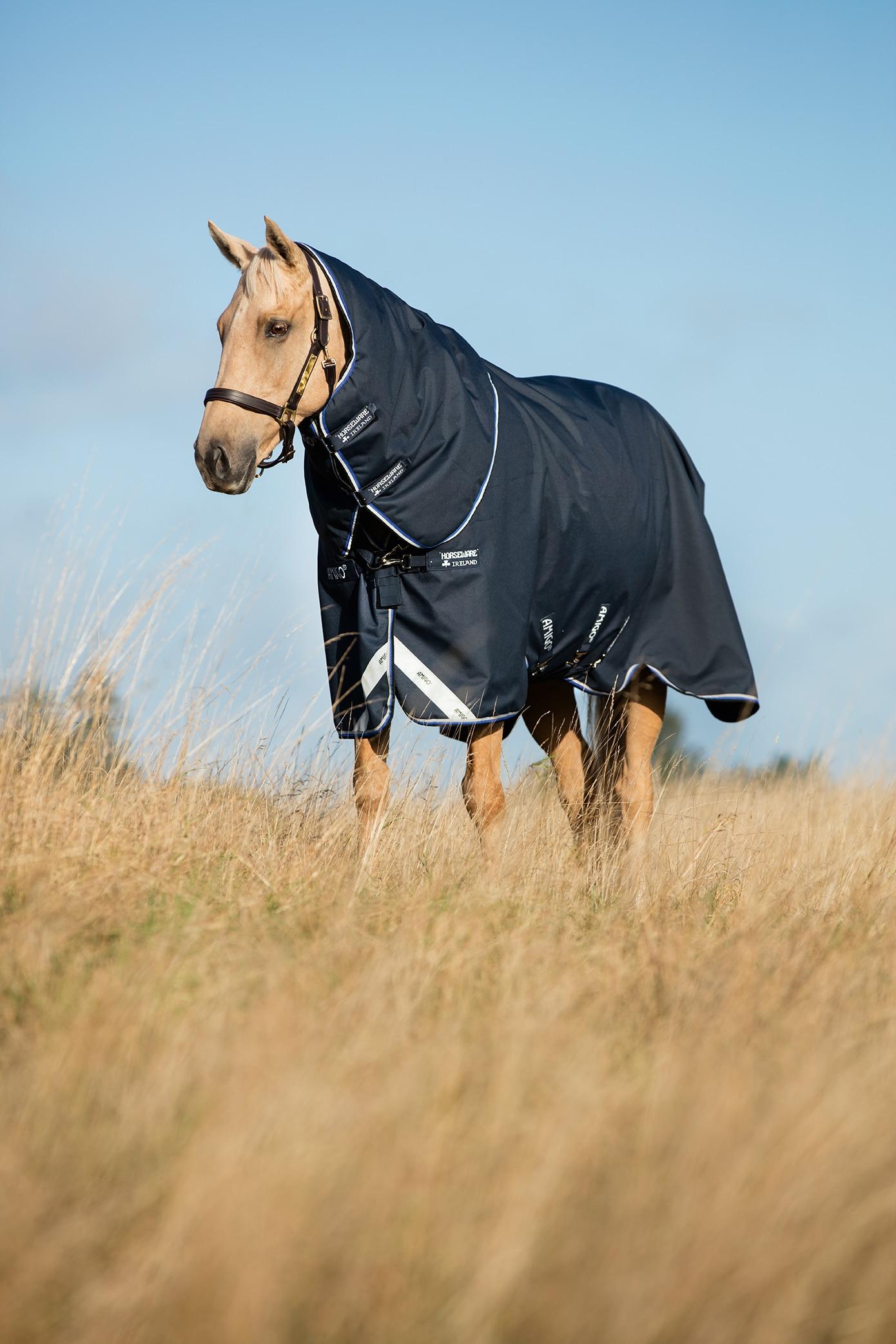 Horseware Amigo Bravo 12 Plus tykt utedekken, 400 gram