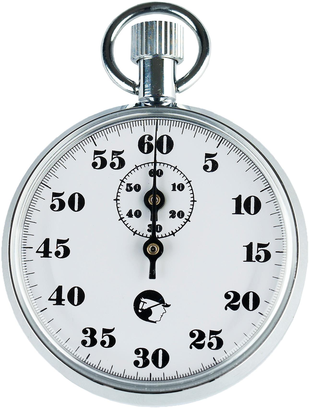 Analog stoppeklokke - 60 sekunder