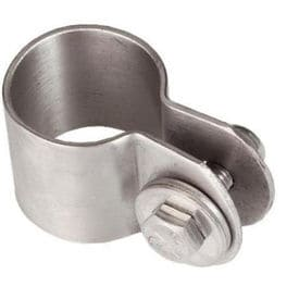 Rustfri stålklemme for D32mm ståldrag
