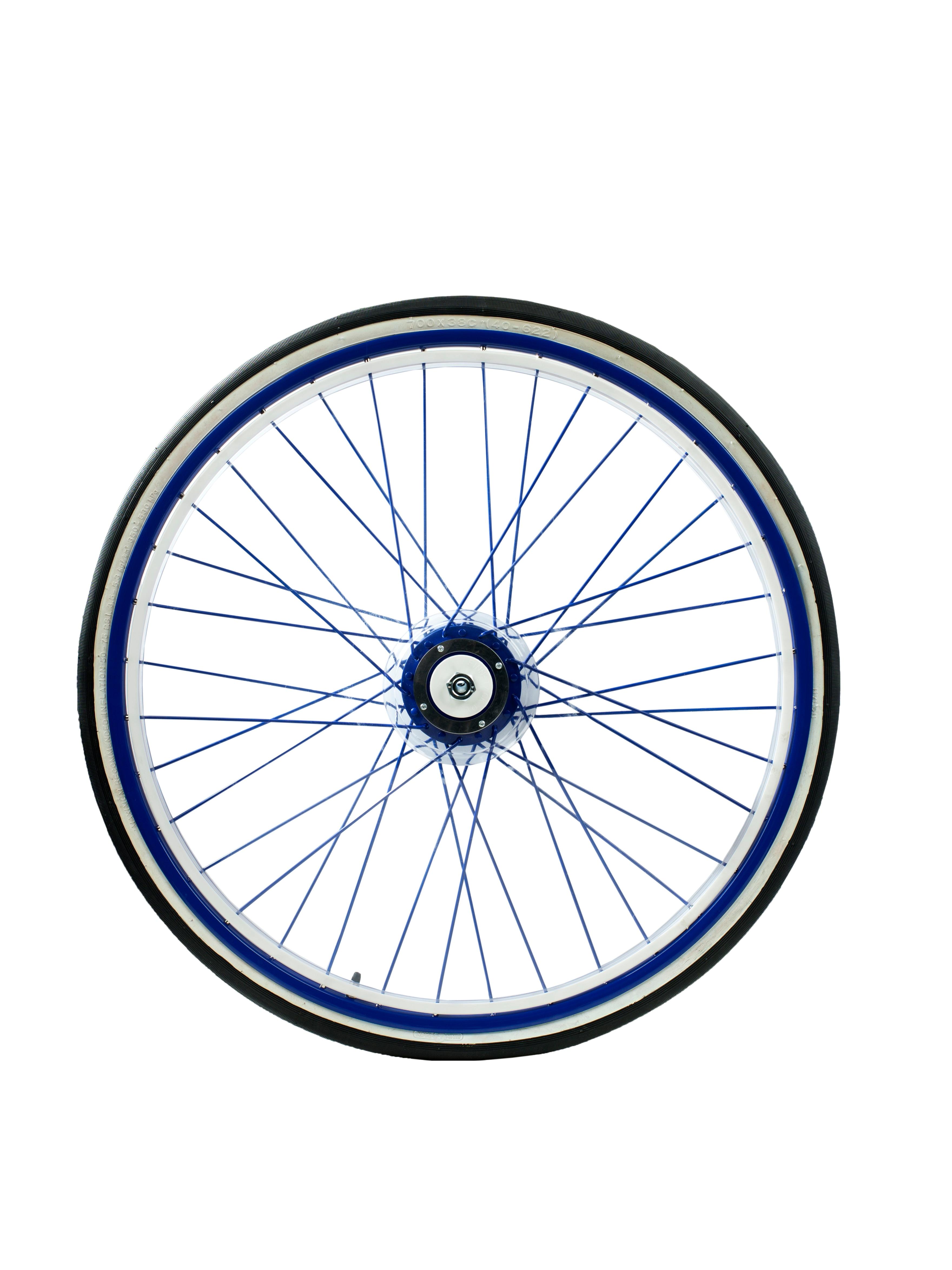Finntack kilpakärryn rengas 28'', ruostumatonta terästä, värillisillä PVC-suojuksilla (myydään kappaleittain)