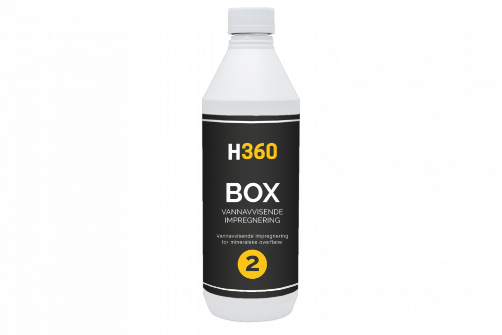 H360 BOX Vannavvisende impregnering for mineralske overflater 1000 ml