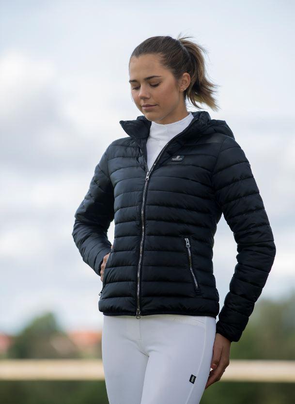 Kingsland Classic vattert jakke med hette til dame