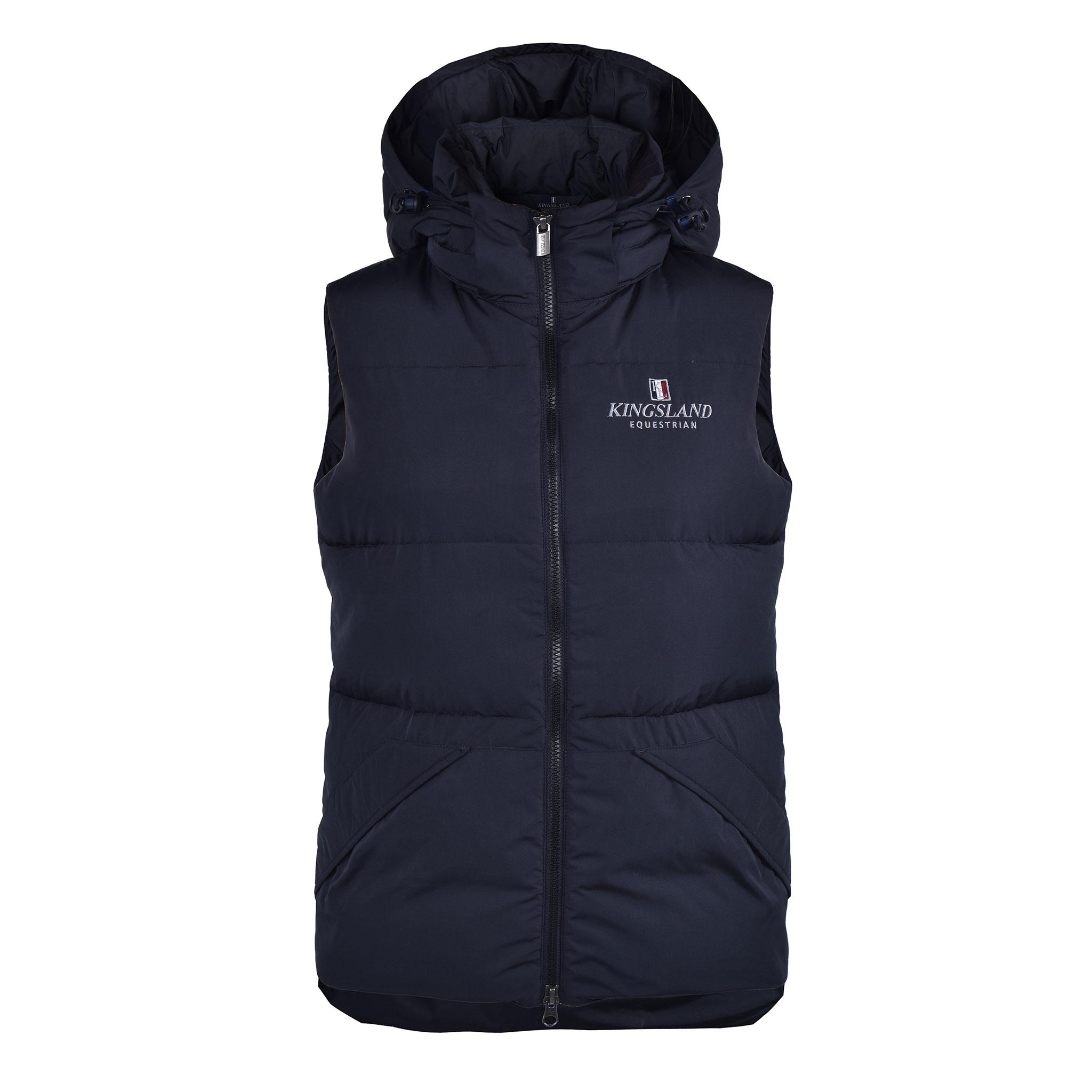 Kingsland Classic Down Vest with hood -untuvaliivi hupulla, unisex